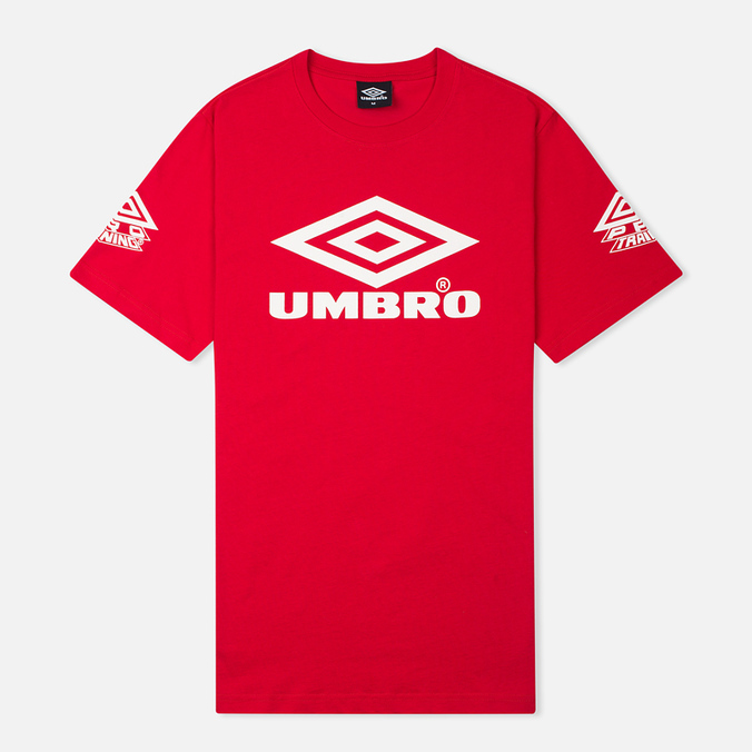 Umbro Pro Training Classic Coach Crew Men's T-shirt Red