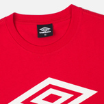 Umbro Pro Training Classic Coach Crew Men's T-shirt Red photo- 1