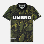 Мужская футболка Umbro x House Of Holland Snake Print Collared Football Top Green фото- 0