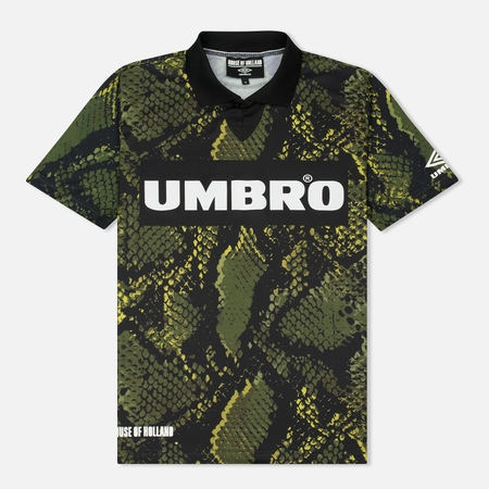 Мужская футболка Umbro x House Of Holland Snake Print Collared Football Top Green