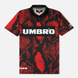 Мужская футболка Umbro x House Of Holland Snake Print Collared Football Top Red фото- 0
