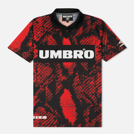 Мужская футболка Umbro x House Of Holland Snake Print Collared Football Top Red
