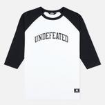 Мужская футболка Undefeated 3/4 Field Raglan Black фото- 0