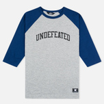 Мужская футболка Undefeated 3/4 Field Raglan Navy фото- 0