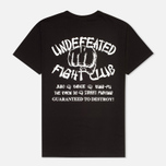 Undefeated Fight Club Men's T-shirt Black photo- 1