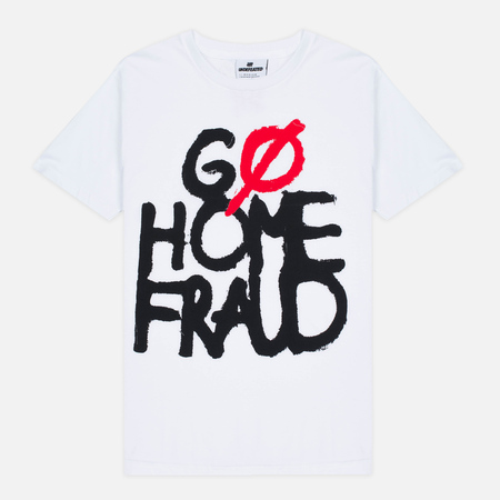 Мужская футболка Undefeated Go Home Fraud White