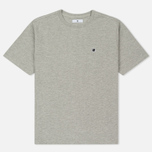 Мужская футболка Undefeated Panel Slub Crew Grey Heather фото- 0
