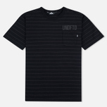 Мужская футболка Undefeated Stripe Pocket SS Black фото- 0