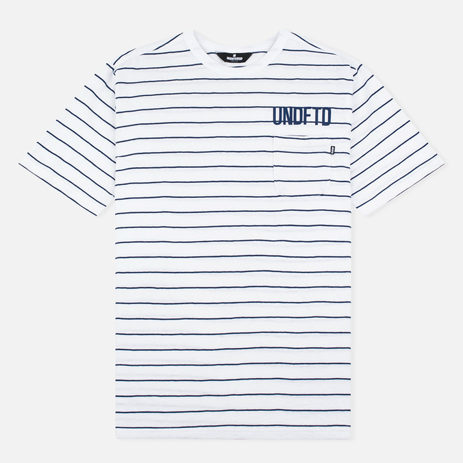 Мужская футболка Undefeated Stripe Pocket SS White