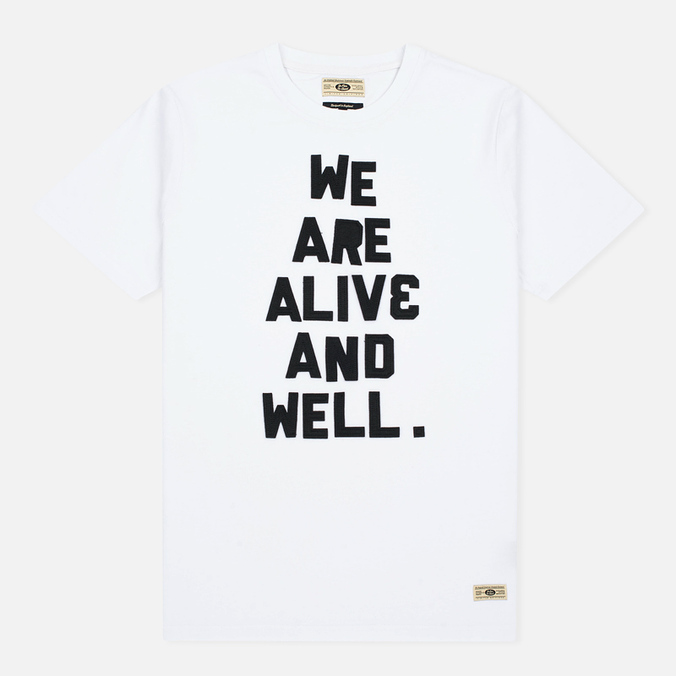 Мужская футболка Uniformes Generale Alive And Well Tee Vintage White