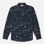 Мужская рубашка Uniformes Generale Stay Wild Button Down Indigo/Ecru фото- 0