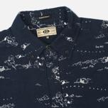 Мужская рубашка Uniformes Generale Stay Wild Button Down Indigo/Ecru фото- 1