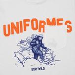 Uniformes Generale Stay Wild College Men's T-shirt Old English White photo- 2