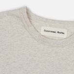 Universal Works Back Print Jersey Men's T-shirt Sand Marl photo- 1