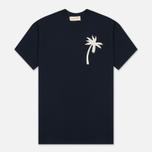 Мужская футболка Universal Works Embroidered Single Jersey Navy фото- 0