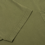 Universal Works Pocket Men's T-shirt Olive Jersey photo- 2