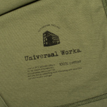 Universal Works Pocket Men's T-shirt Olive Jersey photo- 4