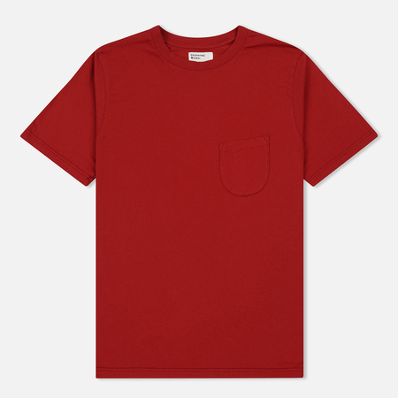 Мужская футболка Universal Works Pocket Single Jersey Red