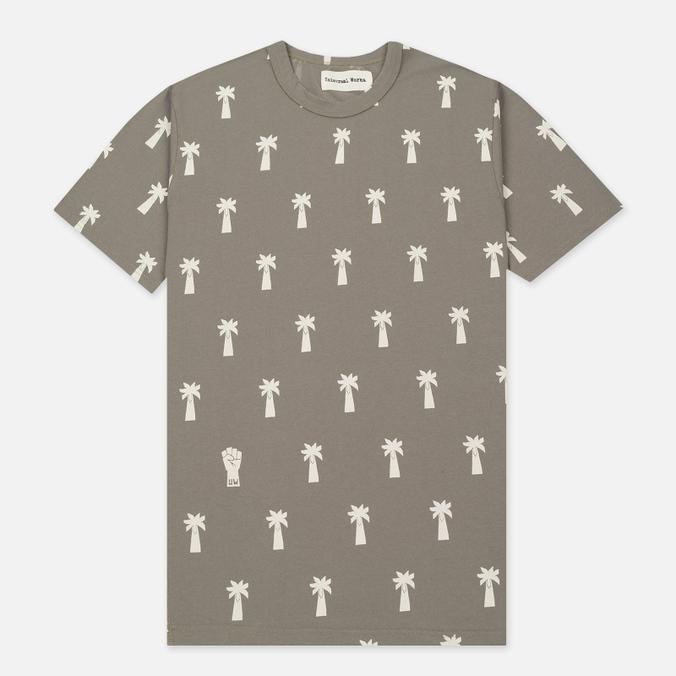 Мужская футболка Universal Works Print Palm Jersey Dark Stone