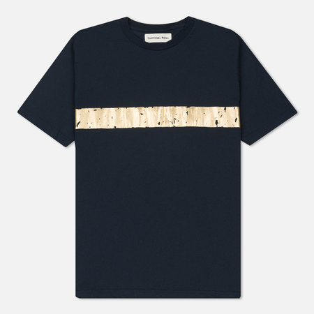 Мужская футболка Universal Works Stripe Print Jersey Navy