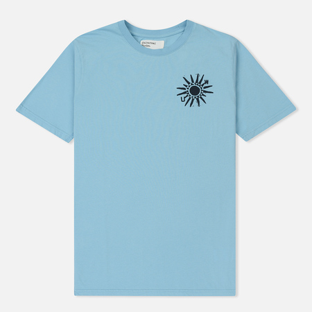 Мужская футболка Universal Works Sun Print Jersey Cornish Blue