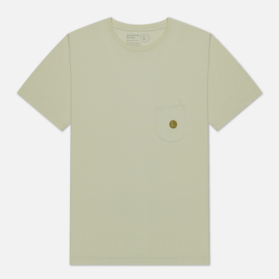 Мужская футболка Universal Works UW Print Organic Dot Print Jersey Ecru
