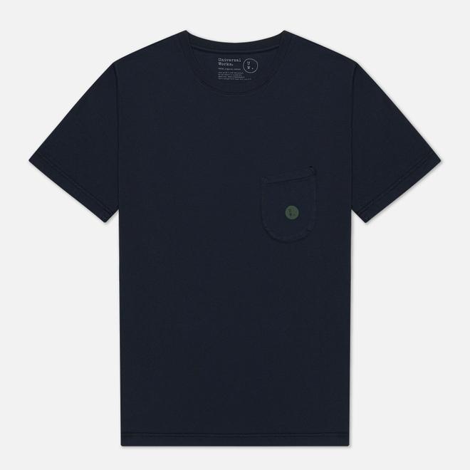 Мужская футболка Universal Works UW Print Organic Dot Print Jersey Navy