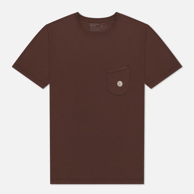 Мужская футболка Universal Works UW Print Organic Dot Print Jersey Raisin