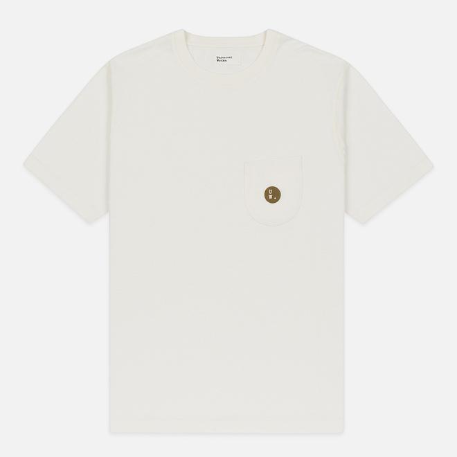 Мужская футболка Universal Works UW Print Single Jersey Ecru