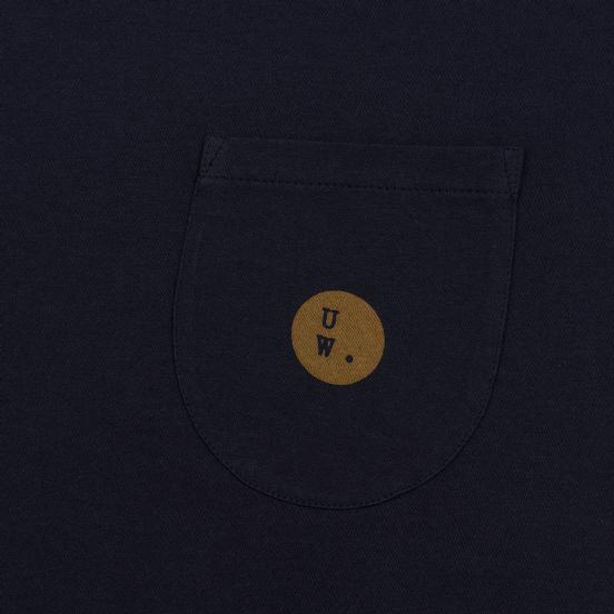 Мужская футболка Universal Works UW Print Single Jersey Navy