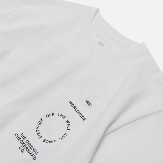 Мужская футболка Vans Distortion Type White
