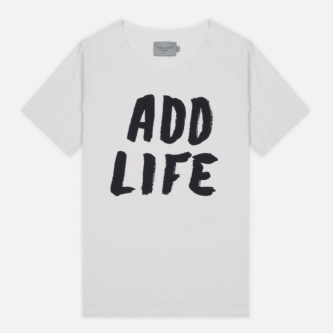 Мужская футболка Velour Add Life White Sand