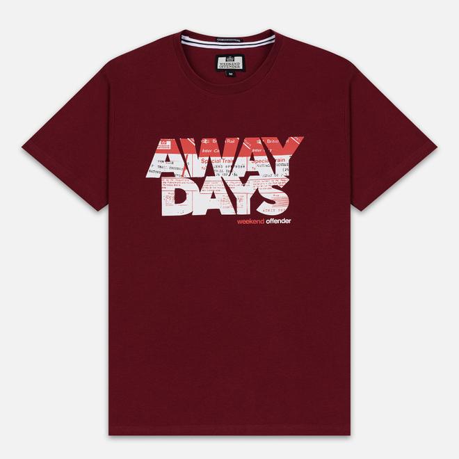 Мужская футболка Weekend Offender Away Days Graphic Garnet