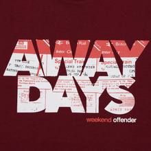 Мужская футболка Weekend Offender Away Days Graphic Garnet фото- 2