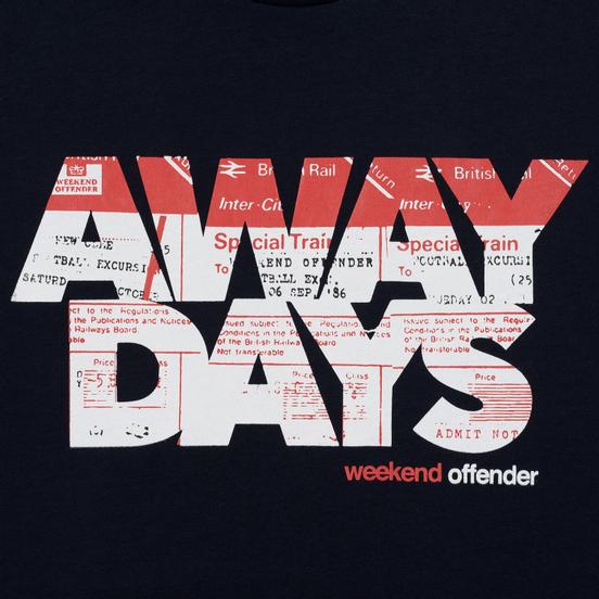 Мужская футболка Weekend Offender Away Days Graphic Navy