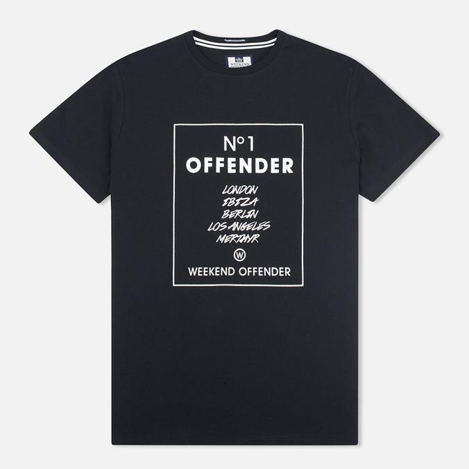 Мужская футболка Weekend Offender Cities Black