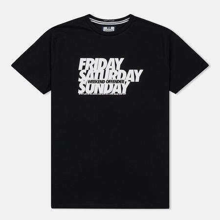 Мужская футболка Weekend Offender Friday Saturday Sunday Black