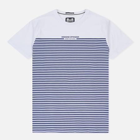 Мужская футболка Weekend Offender Half Stripes White