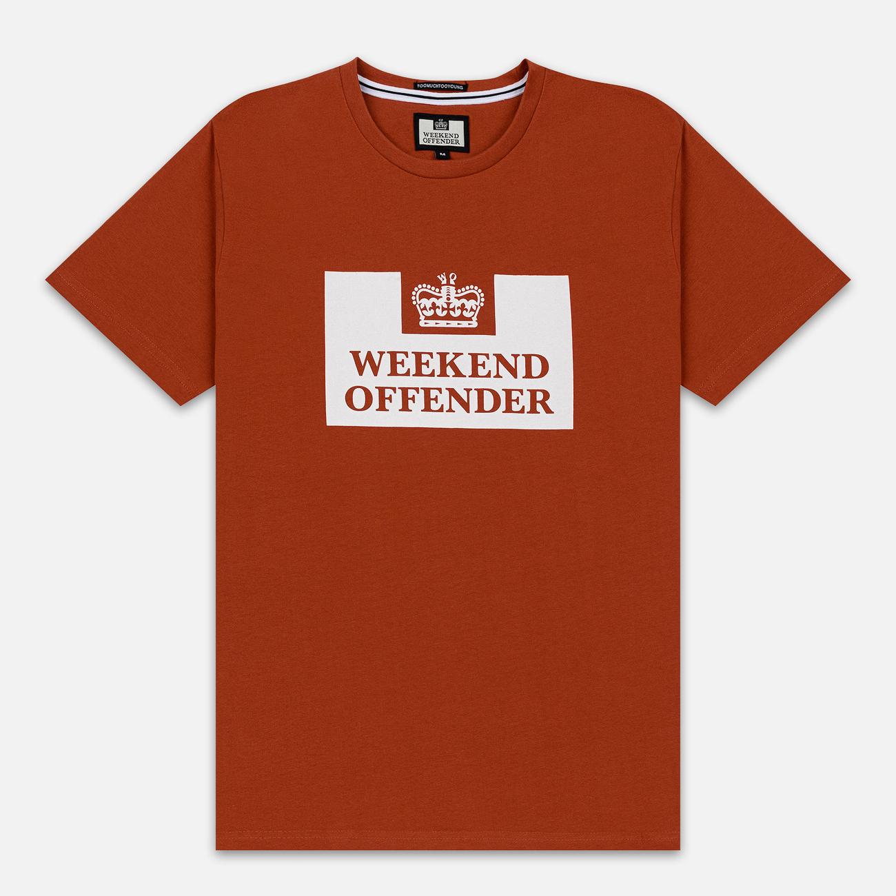 Мужская футболка Weekend Offender Prison AW19 Cinnamon