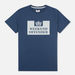 Мужская футболка Weekend Offender Prison Reflective Navy фото- 0