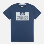 Weekend Offender Prison Men's T-shirt Reflective Navy photo- 0