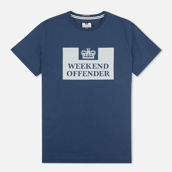 Weekend Offender Prison Men's T-shirt Reflective Navy