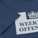 Мужская футболка Weekend Offender Prison Reflective Navy фото- 3