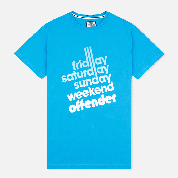 Мужская футболка Weekend Offender Sixty Hours Cyan