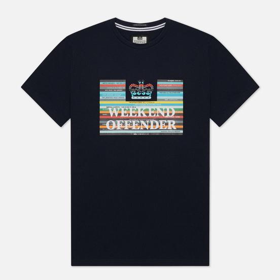 Мужская футболка Weekend Offender Spines Navy
