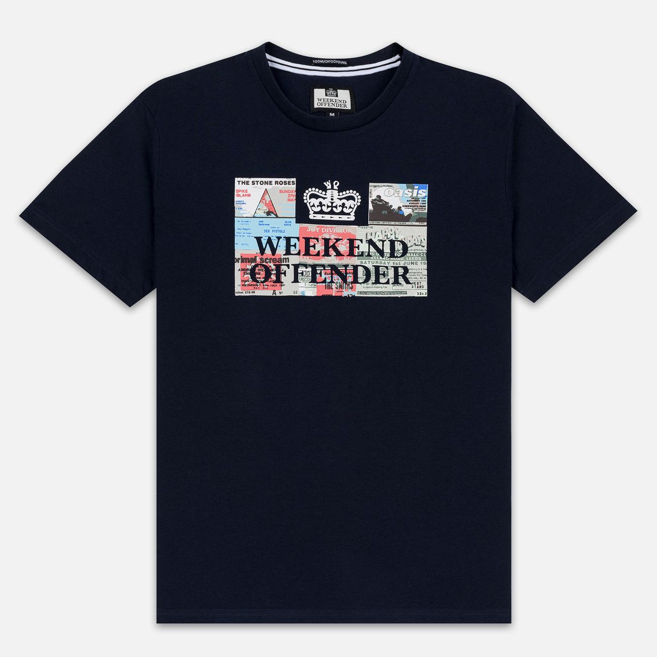 Мужская футболка Weekend Offender Tickets Navy
