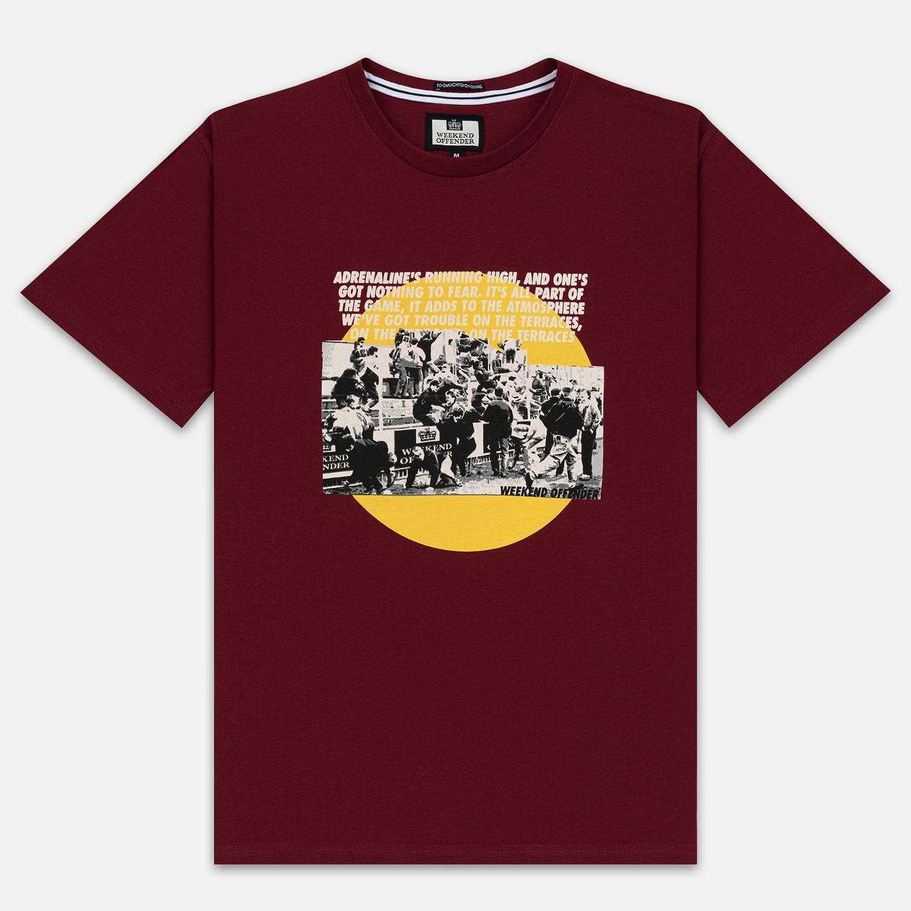 Мужская футболка Weekend Offender Trouble Garnet