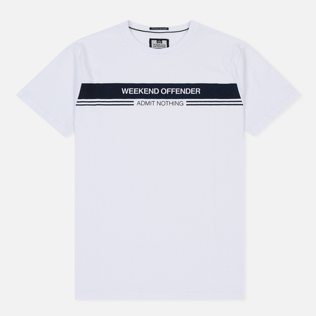 Мужская футболка Weekend Offender W.O.A.N. Chest Stripe White