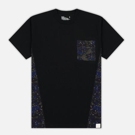 Мужская футболка White Mountaineering Desert Camouflage Printed Contrast Black