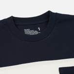 Мужская футболка White Mountaineering Multi Border Pocket Navy/White фото- 1
